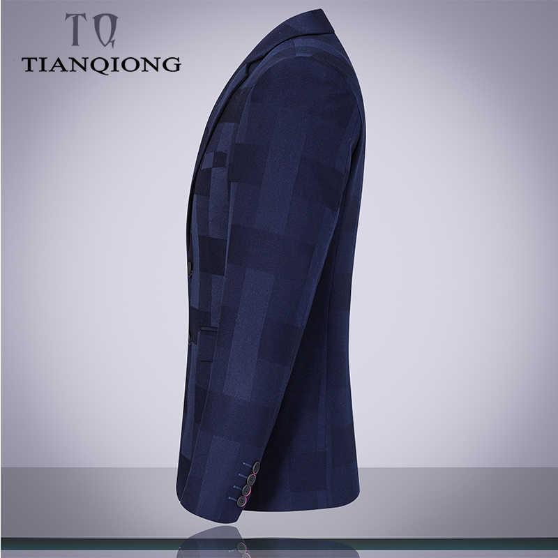 天原作 2019 新しい高級スーツ 3 ピースメンズチェック柄のスーツのスーツとパンツクラシックウェディングビジネススリムフィットパーティースーツ男性