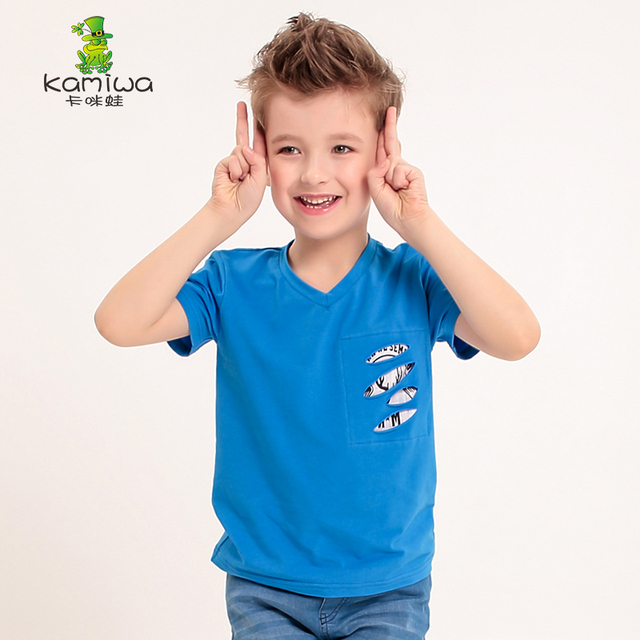 KAMIWA 2016 summer new short sleeve cotton Teen boys t-shirts top Tees T Shirts Children's clothing kids clothes freeshipping