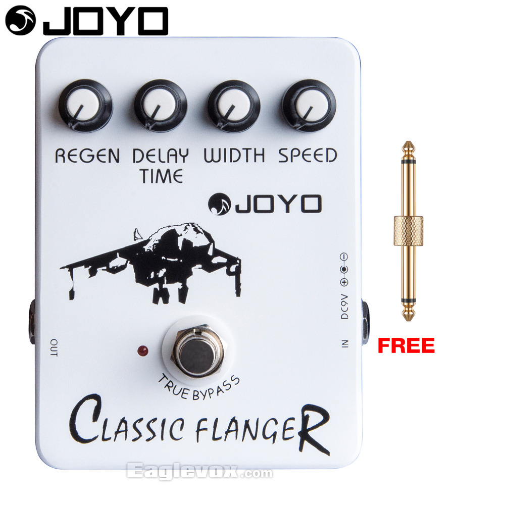 JOYO Classic Flanger Electric Guitar Effect Pedal True Bypass JF-07 with Free Connector joyo rushing train amp simulator electric guitar effect pedal classic liverpool sounds true bypass jf 306 with free 3m cable