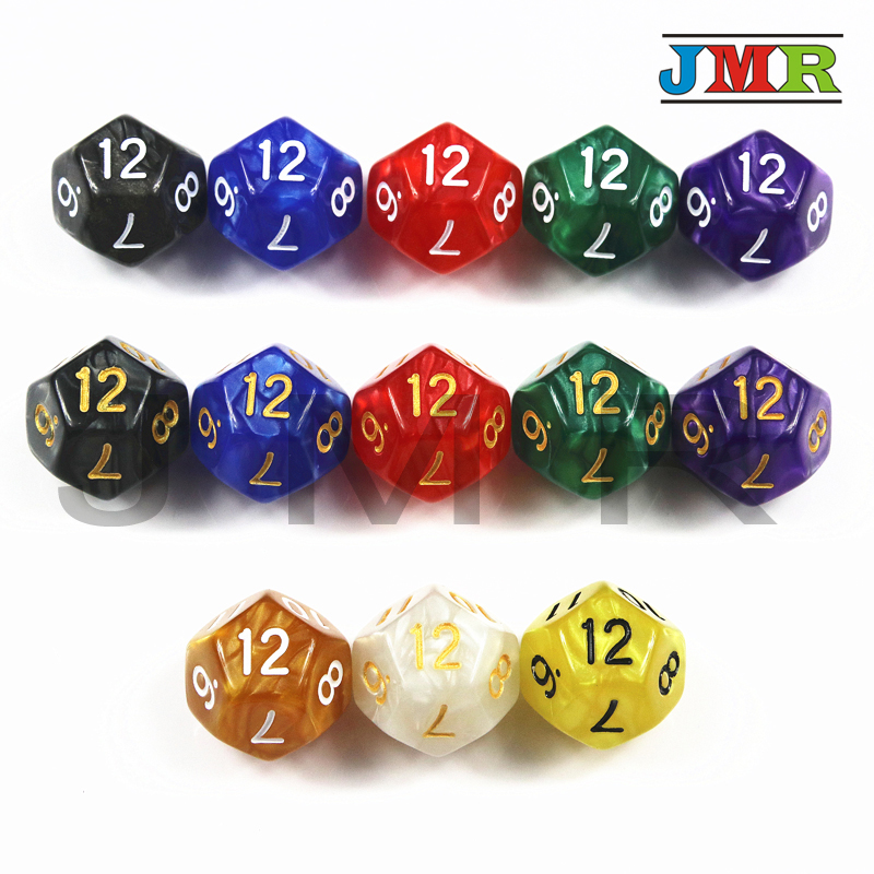 10pcs 8 Sided Dice D8 Polyhedral Dice for Dungeons and Dragons RPG Red