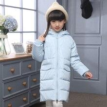 Girls Winter Jacket New Kid Winter Warm Coat Girl Thick Snowsuit Children Winter Long Sleeve Striped Hooded Down Coat Girl Parka