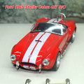 Brand New Classic escala 1/32 Vintage Ford 1965 Shelby Cobra 427 S / C fresco Diecast Metal tira del modelo del coche de juguete para el regalo / niños