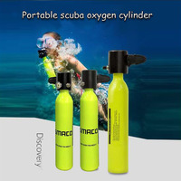 Diving Equipment Mini Diving Scuba Cylinder Air Tanks Valve Respirator Bag Adapter Snorkeling Underwater Breathing Accessory