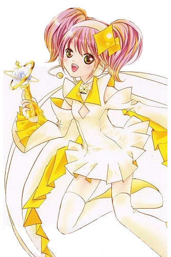 Shugo Chara Hinamori Amu Amulet Dia Yellow Cosplay Costume and Wig Free  Shipping for Halloween and