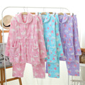 New Maternity Sleepwear Warm Coral Fleece Pregnant Women Pyjama Set Autumn Winter Feeding Loungewear