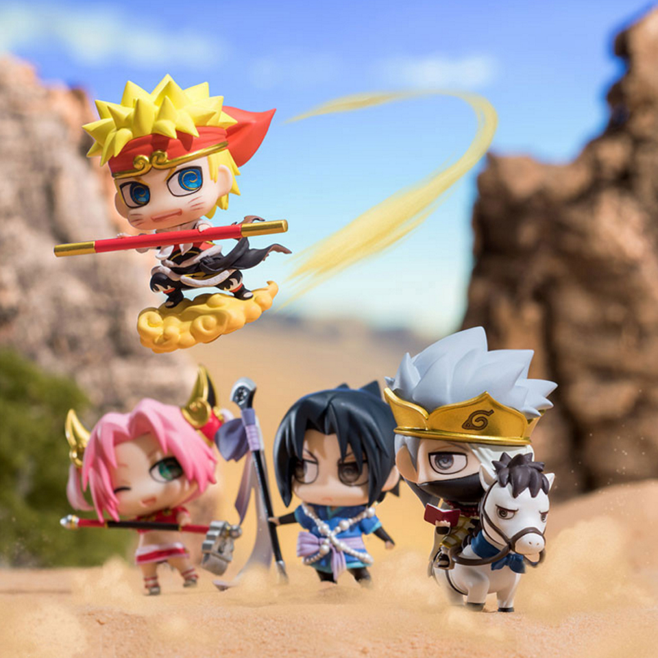 4pcs/set Naruto Journey to the West Version Cute Figure Model Toys