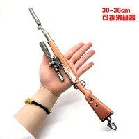 2019 Hot Game 8 Styles PUBG CS GO Weapon Keychains AK47 Gun Model 98K Sniper Rifle Key Chain Ring for Men Gifts Souvenirs 36CM