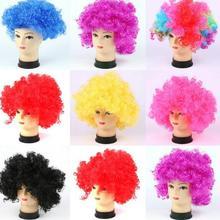Free PP Clown Wig Costume Props Multicolor Birthday Party Pr