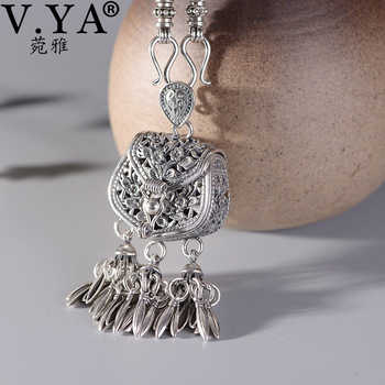 V.YA S925 Sterling Silver Pendant Necklace Woman Retro Tassel Sachet Necklaces with Chain Women Elegant Jewelry Gift - DISCOUNT ITEM  40 OFF Jewelry & Accessories