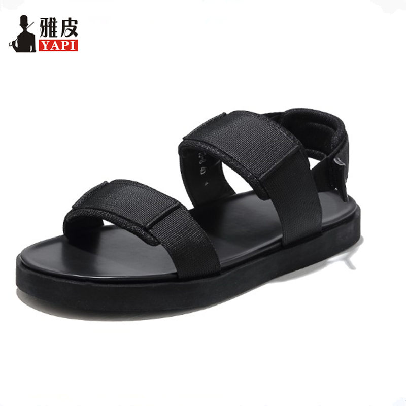2018 New US 6- 10 Men Casual Gladiator Hook Loop Sandals Summer Outdoor Slides Shoes Beach Travel Shoes