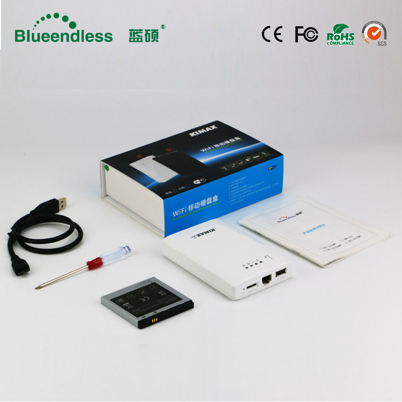 500G Disque Dur Inclus 2.5 Sata USB 3.0 Hdd Disque Dur Cas Sans Fil wifi Booster Signal Expander 4000 mah Powerbank