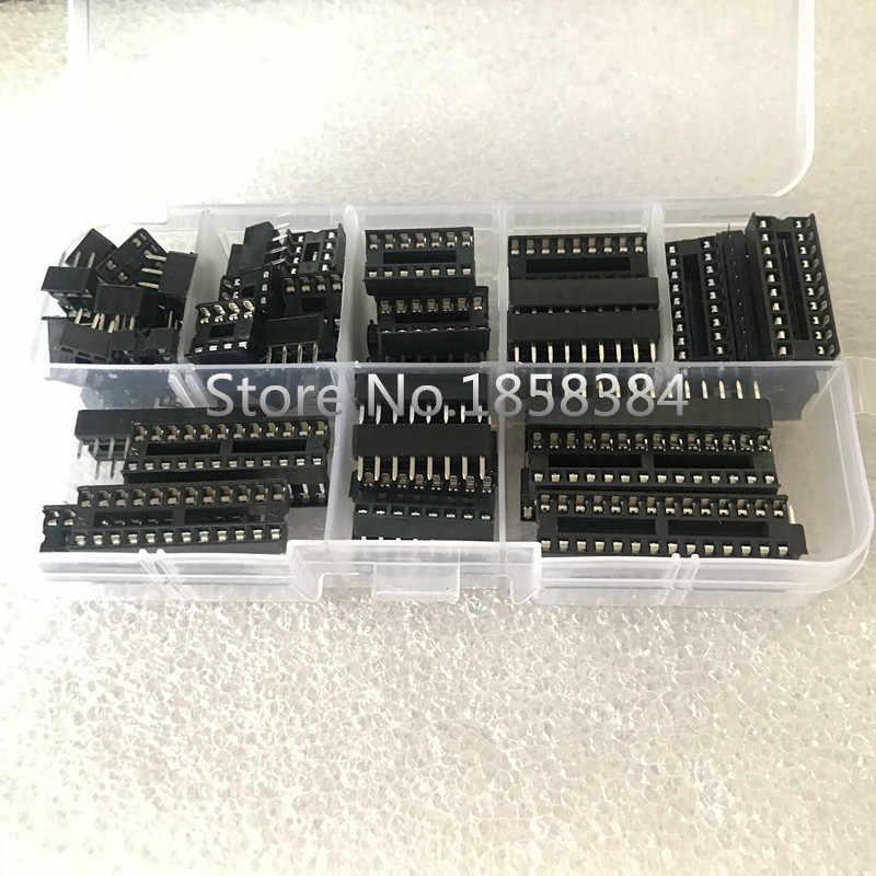 66 ชิ้น/เซ็ตกล่อง 6,8, 14,16, 18,20, 24,28 pins - DIP IC Sockets อะแดปเตอร์ประเภท Solder Socket Kit