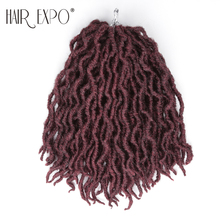 12inch Goddess Faux Locs Crochet Hair Synthetic Crochet Braids Omber Braiding Hair Extension For Black Women Hair Expo City 12inch goddess faux locs curly ends short wavy crochet braids 12strand pack afro synthetic ombre crochet braiding hair extension