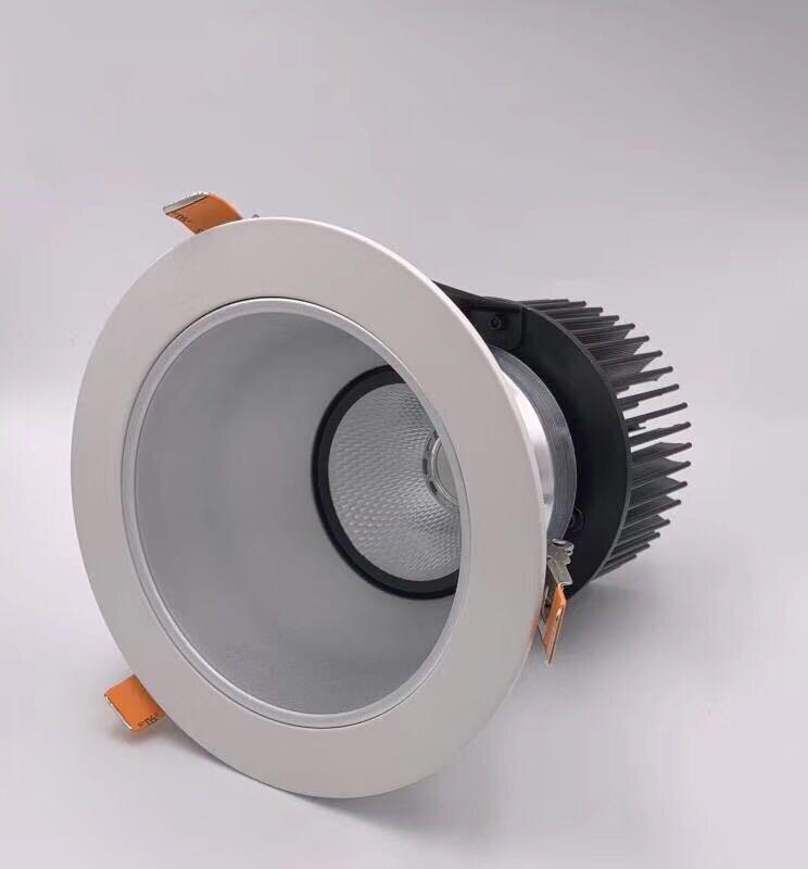 2018 a précipité de vrais Luces Led 1 pcs/lot Downlight 35 w 50 w plafonniers panneau lumineux encastré lampe en aluminium chaud froid blanc