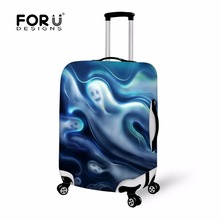 FORUDESIGNS Skull Halloween Print Protective Baggage Cover 18 30 Inch Trolley Suitcase Elastic Waterproof Travel font