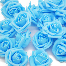4CM Multicolor PE Foam Rose Flowers Head For Wedding Car Marriage Room Decoration DIY Artifical Flower Garland Decorative Craft