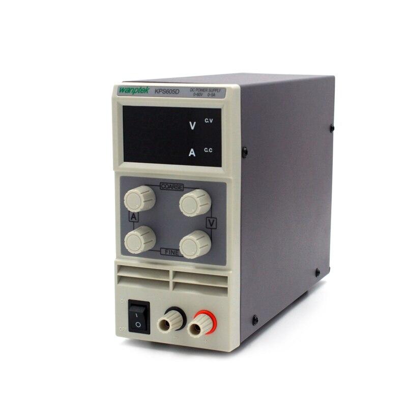 topMini laboratory power supply KPS605D 60V 5A Single phase adjustable SMPS Digital voltage regulator 0.1V 0.01A DC power supply