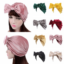 Sale 2018 girls Velvet Big Bowknot Hair Bands New Headband For Women Turban Hat Cap Accessory