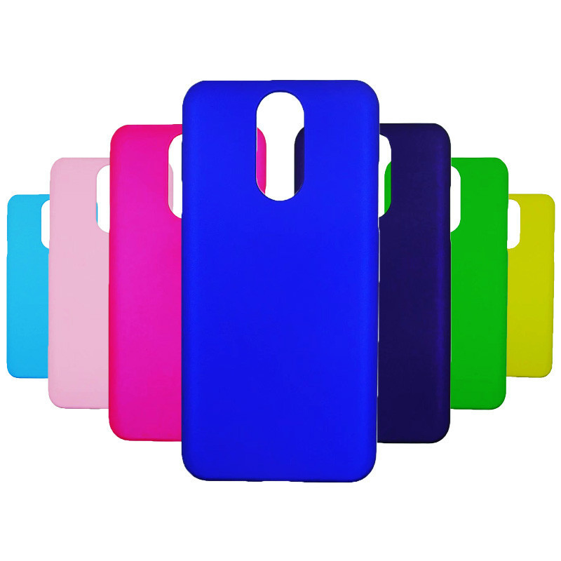 Phone Case sFor Fundas LG Q7 case For Coque cover Candy Color Hard plastic PC phone cases