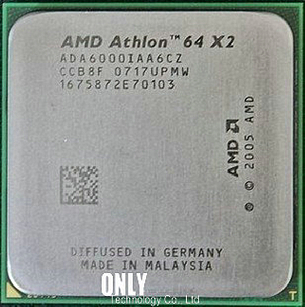 AMD Dual-Core AM2 ADA6000IAA6CZ Cpu-Socket Ghz 64x2 940-Pin CACHE Working 2MB 100-%