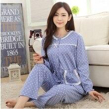 Cotton soft maternity clothes Pajama Sets women long sleeve pajama for pregnant cardigan maternity sleepwear sleepwear female