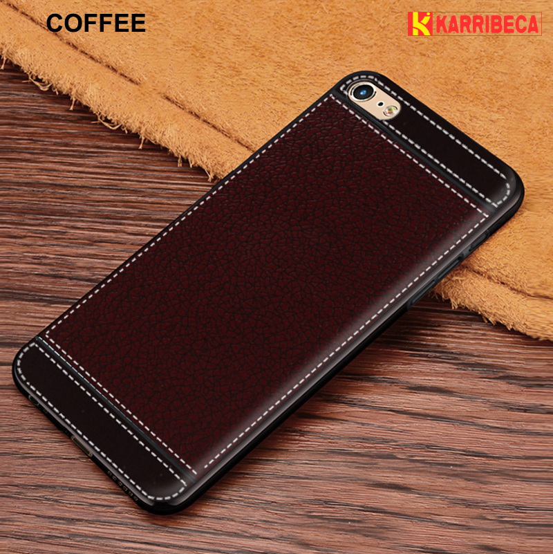 32957b9dc2e6a7 Litchi silicone case for iphone 4 5 6 s 7 8 plus funda hoesje lychee  leather tpu