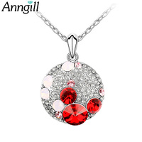 ANNGILL Classic Cute Mickey Head Pendant Necklace Made With Swarovski Elements Crystal 2017 For Girlfriend Best