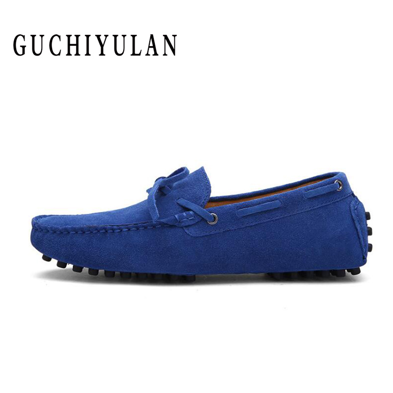 Boat Casual Comfort New Blue Orange Soft Breathable Driving SHOES mens Spring Suede Loafers Moccasins Men Slip-ons Shoes Size 46
