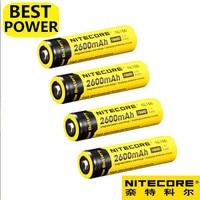 9.6Wh NL1826 4 pcs Nitecore 18650 2600mAh 3.7V Recarregável Li na Bateria de alta qualidade com proteção|batteries batteries|battery battery battery|battery rechargeable -