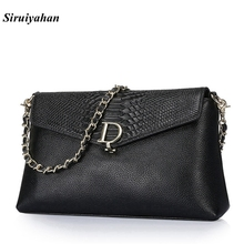 Siruiyahan Genuine Leather Bag Female Luxury Handbags Women Bags Designer Bolsas Feminina