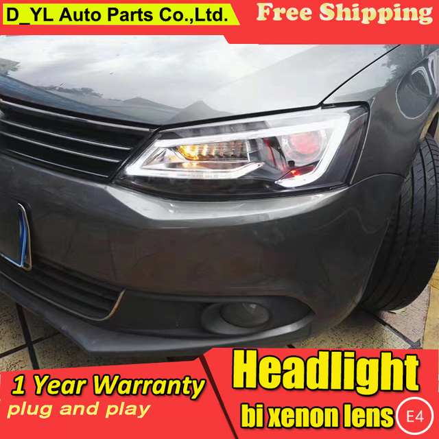 Car Styling Headlights For Vw Jetta 2017 Led Headlight Head Lamp Jett Daytime Running Light Drl Bi Xenon Hid