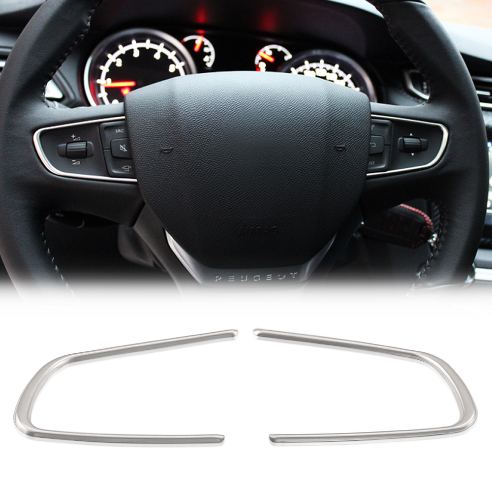 New Steering Wheel Trim Cover Sticker Case For CITROEN C4 SEGA C3-XR 2011-2016 Peugeot 508 2014-2015 408 Accessories Car Styling