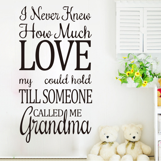 Fashion Quotes Wall Decal Home Family Love Words Wall Sticker For Stunning Quotes About Family Love