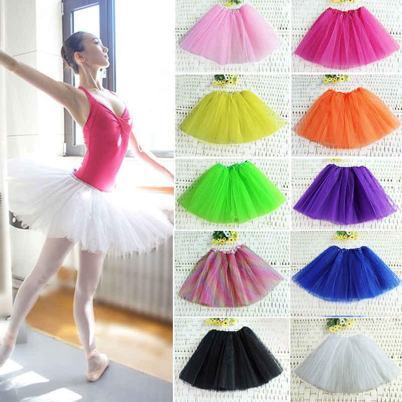 8e2715aaaf5f Falda tutú de muchos colores para mujer Falda de baile de Ballet tutus Mini  falda de