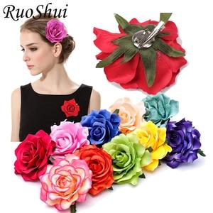 10PCS/LOT Rose Flower Hairpin