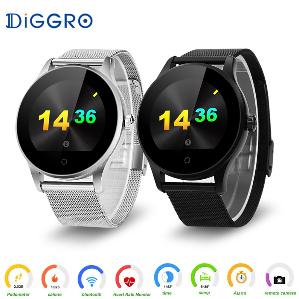 Diggro K88H Smart Watch Round Screen Support Heart Rate Monitor Bluetooth SmartWatch For Apple Huawei Xiaomi Phone IOS Android ataliqi k88h smart watch round screen support heart rate monitor bluetooth smart watch for apple huawei xiaomi phone ios android