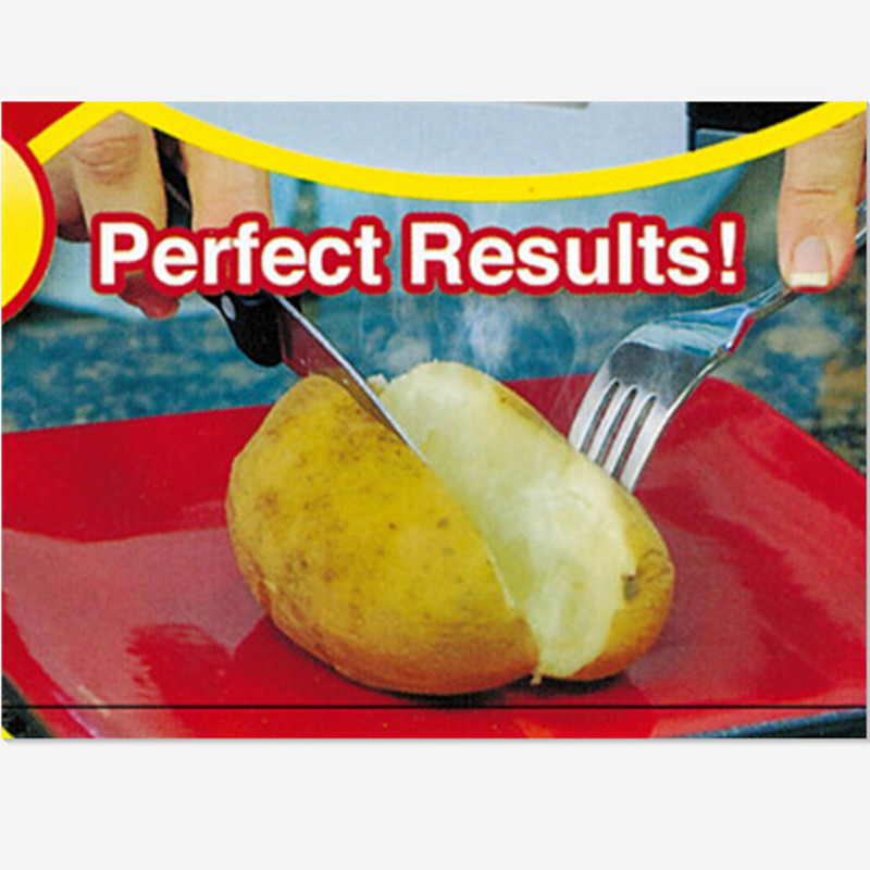 1pc New Red Washable Cooker Bag Baked Potato Microwave Cooking Quick Fast Cook 4 Potatoes At Once In Baking Pastry Tools From Home Garden On
