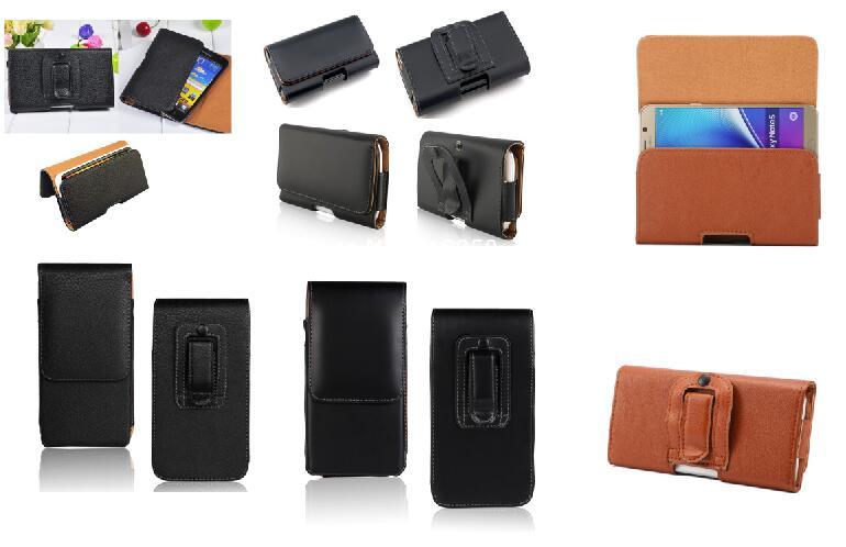 Pour ASUS Zenfone Go ZB500KL ceinture Clip étui universel PU housse étui en cuir couverture pour Leagoo M5/DOOGEE X9 Mini 5 ''gratuit