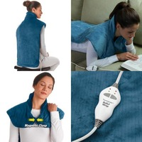 Flannel Health Relief Wrap Neck Shoulder Back Therapy Muscles Pain Relief Pad Massaging Heat Wrap Household Massager