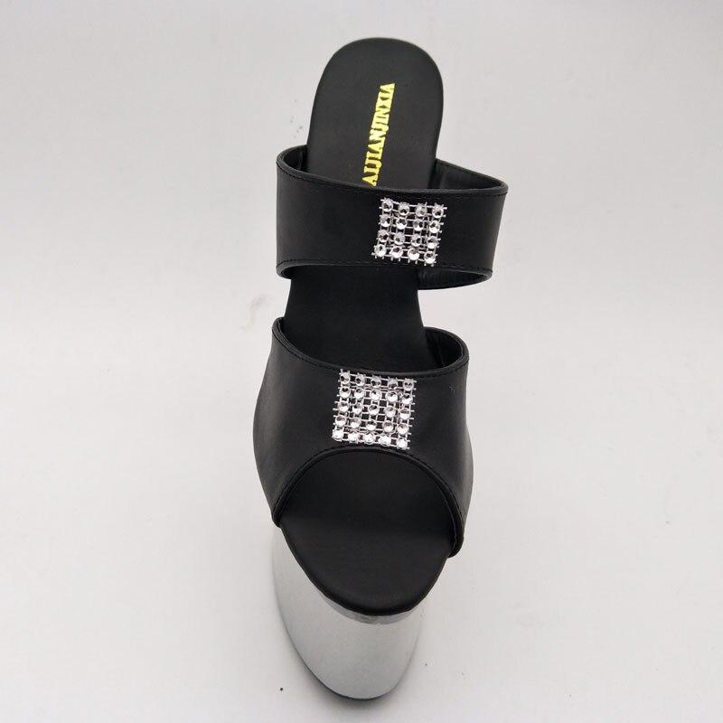 Ouvert Cm 026 De Laijianjinxia Coeur Bal 18 À 2018 Élégant Bout Transparent 7 F F Pouce f024 026 Hauts Mariage Chaussures Talons Forme Sandales En Pantoufles CCxTwfqSZt