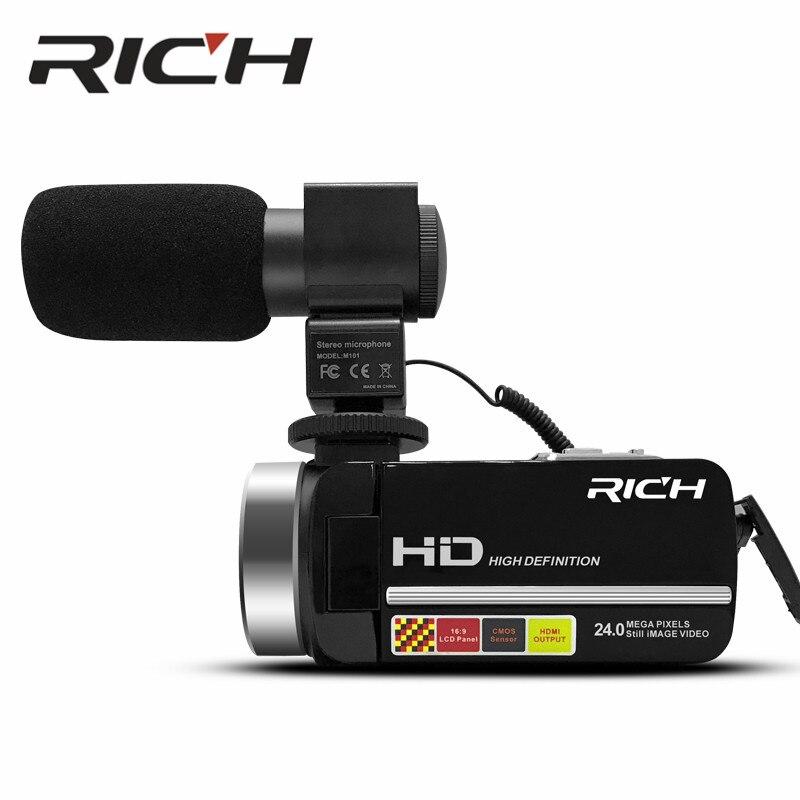 5 pièces MP100 appareil photo numérique 1080 P 15fps Full HD 24MP D 3.0 pouces caméscope vidéo rotatif à écran LCD avec télécommande sans fil