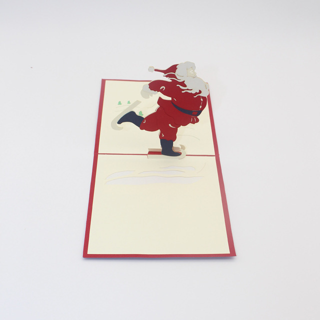 3d diy christmas greeting card red santa claus 3d pop up paper 3d diy christmas greeting card red santa claus 3d pop up paper handmade postcards custom wholesale m4hsunfo