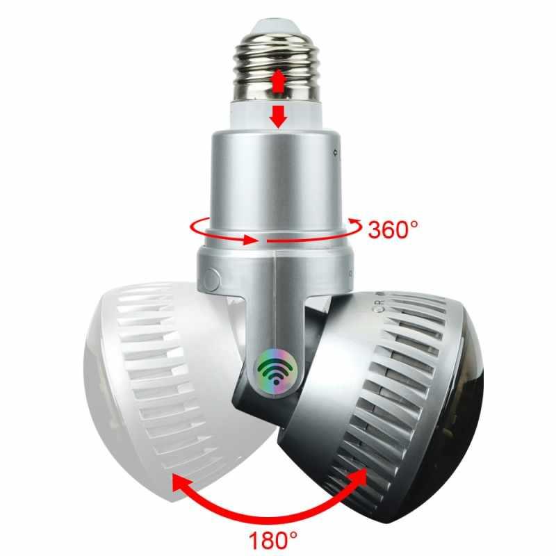 HD 960 P светодиодный свет, лампа для домашнего видеонаблюдения Wifi Камера NVR лампа P2P Камера смартфон приложение управления Камера