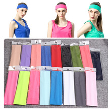 Solid Stretch Band Men Women Sport Sweat Sweatband Headband Yoga/Gym Hair Head Adjustable Bboy Caps Outdoor Run
