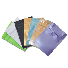 5000pcs 8*12cm Glossy/Matte Aluminium Zip Lock Foil Bags Aluminum Zipper Ziplock Storage Food Pack Bag