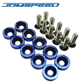 10 PCS BLUE JDMSPEED Aluminum Fender Washers For Honda Civic Integra RSX EK