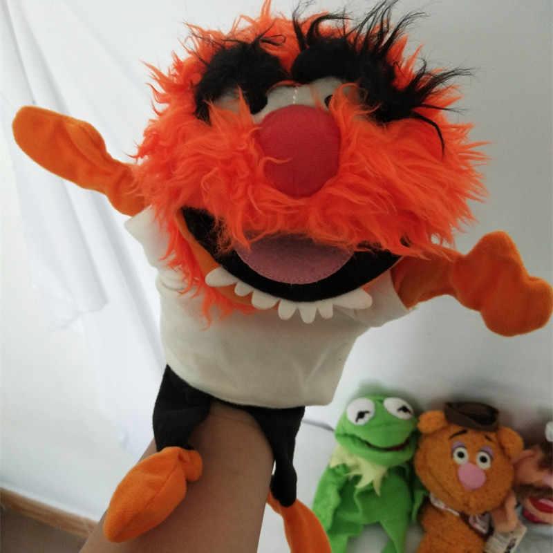 Muppets Kukla Kermit Kurbağa Fozzie Bear İsveç Şef Miss Piggy Gonzo Peluş Dolması 28 cm El Kuklalar Bebek Çocuk çocuk oyuncakları