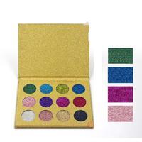 LEARNEVER 1 Set 12 couleurs Glitter ombre à paupières ombre à paupières Imperméable Pro Nu Ombre À Paupières Palette Maquillage Palette Cosmétique Set beauté