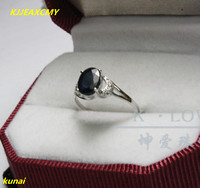KJJEAXCMY fine jewelry 925 silver inlaid natural sapphire ring color gemstone jewelry simple and generous.