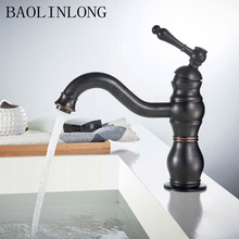 BAOLINLONG Black Antique Brass Basin Bathroom Faucets Vanity Vessel Sinks Bath Mixer Faucet Tap